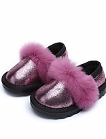 cheap -Girls' Shoes Synthetic Microfiber PU Winter Comfort / Flower Girl Shoes Loafers & Slip-Ons for Gold / Fuchsia / Silver