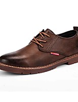 cheap -Men's Shoes Pigskin Summer Comfort Oxfords for Outdoor Black Brown