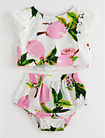 cheap -Toddler Girls' Solid Colored Floral Sleeveless Clothing Set