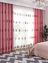 cheap -Two Panel Korean Pastoral Style Thick Embroidered Curtains For Living Room Bedroom Dining Room Curtains