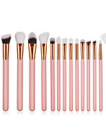 cheap -15pcs Makeup Brushes Professional Makeup Brush Set Nylon fiber Eco-friendly / Soft Wooden / Bamboo