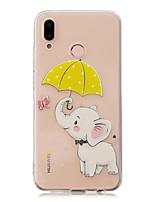 abordables -Funda Para Huawei P20 Pro / P10 Plus Transparente / Diseños Funda Trasera Elefante Suave TPU para Huawei P20 lite / Huawei P20 Pro /