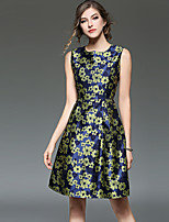 cheap -SHIHUATANG Women's Vintage / Street chic A Line Dress - Floral