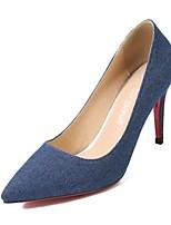 abordables -Femme Chaussures Tissu Automne / Printemps été Confort Chaussures à Talons Talon Aiguille Bout pointu Noir / Bleu / Soirée & Evénement