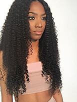 cheap -Remy Human Hair Lace Front Wig Wig Brazilian Hair / Kinky Curly Curly 150% Density 100% Virgin Women's Long Human Hair Lace Wig