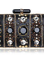 cheap -Women's Bags Polyester Clutch Beading / Rivet / Buttons for Wedding / Event / Party Black