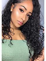 Недорогие -Не подвергавшиеся окрашиванию Парик Бразильские волосы Кудрявый 130% плотность С детскими волосами Нейтральный Длинные Жен. Парики из