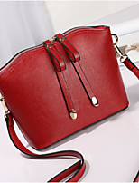 cheap -Women's Bags PU Shoulder Bag Zipper Black / Red