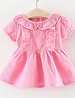 economico -Bambino (1-4 anni) Da ragazza Tinta unita / Collage Manica corta Vestito