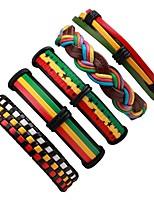 Недорогие -стек Кожаные браслеты - Мода Браслеты Цвет радуги Назначение Официальные / Для улицы