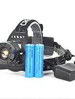 economico -Torce frontali / luci di sicurezza LED 5000lm 1 Modalità di illuminazione Portatile / Professionale / Impermeabile Campeggio /