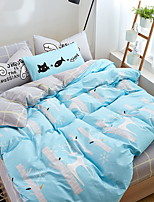 cheap -Duvet Cover Sets Geometric Cartoon 100% Cotton Quilted 3 Piece