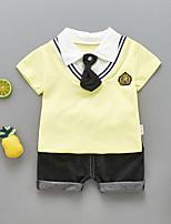 cheap -Kids / Toddler Boys' Striped / Print Short Sleeve Clothing Set