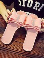 cheap -Women's Shoes PVC Summer Comfort Slippers & Flip-Flops Flat Heel for Casual Black Pink