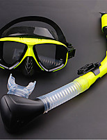 cheap -Diving Package / Snorkeling Set - Snorkel, Diving Mask - Antifog, Explosion-Proof, Soft Snorkeling, Diving, Swimming PVC