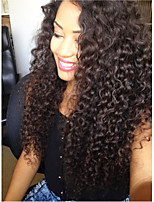 cheap -Virgin Human Hair Wig Malaysian Hair Curly Layered Haircut 130% Density With Baby Hair For Black Women Black Short Long Mid Length Women's