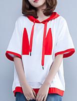 abordables -Tee-shirt Femme, Géométrique - Coton Col de Chemise Ample