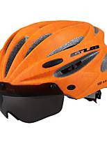 abordables -GUB® Adultos Casco de bicicleta 17 Ventoleras CE / CPSC Certificación Resistente a Golpes, Visera extraíble EPS, ordenador personal Ejercicio al Aire Libre / Ciclismo / Bicicleta - Rojo / Verde