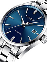 cheap -CADISEN Men's Mechanical Watch Japanese Calendar / date / day / Water Resistant / Water Proof Stainless Steel Band Luxury / Fashion Silver