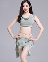 cheap -Belly Dance Outfits Women's Performance Cotton / Modal Ruching Sleeveless Dropped Skirts / Top