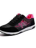 cheap -Women's Shoes Tulle Summer Comfort Sneakers Flat Heel Round Toe for Black Fuchsia Blue