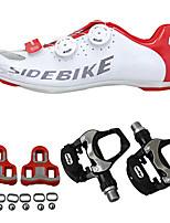 abordables -SIDEBIKE Homme Chaussures de Cyclisme avec Pédale & Fixation / Chaussures de Vélo de Route / Chaussures Vélo / Chaussures de Cyclisme