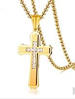 Недорогие -Муж. Ожерелья с подвесками  -  Мода Геометрической формы Золотой Серебряный 60cm Ожерелье Назначение Подарок Повседневные