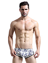 cheap -Men's Briefs Underwear Solid Colored / Galaxy Low Rise