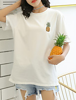 cheap -women's t-shirt - fruit round neck