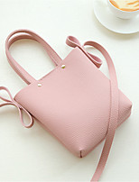 cheap -Women's Bags PU Shoulder Bag Buttons Blushing Pink