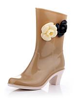 Недорогие -Жен. Обувь ПВХ Весна лето Резиновые сапоги Ботинки На толстом каблуке для Work & Safety / Офис и карьера / на открытом воздухе Черный /