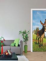 Недорогие -Декоративные наклейки на стены / Дверные наклейки - Наклейки для животных / Праздник стены стикеры Геометрия / 3D Гостиная / Спальня