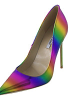 abordables -Femme Chaussures Polyuréthane Automne Escarpin Basique Chaussures à Talons Talon Aiguille Bout pointu Arc-en-ciel / Soirée & Evénement