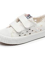 Недорогие -Девочки Обувь Полотно Весна Удобная обувь Кеды для Белый / Черный / Розовый