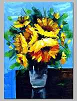 cheap -Oil Painting Hand Painted - Abstract Floral / Botanical Comtemporary Canvas