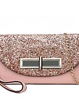 cheap -Women's Bags PU Shoulder Bag Buttons Black / Blushing Pink / Gray