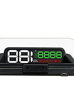 cheap -Factory OEM C500 LED Wired Head Up Display Multi-functional display / Night Vision for Car Average fuel consumption / Time / Display KM /