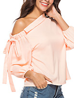 cheap -Women's Street chic / Punk & Gothic Blouse - Solid Colored