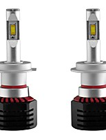 cheap -2pcs H7 Car Light Bulbs 80W Integrated LED 8000lm 2 LED Headlamp For universal All Models All years