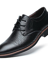 cheap -Men's Shoes Synthetic Microfiber PU Spring Comfort Oxfords Black / Brown