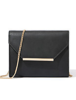 cheap -Women's Bags PU Shoulder Bag Buttons Black