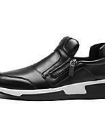 Недорогие -Муж. обувь Полиуретан Осень Удобная обувь Мокасины и Свитер Черный / Красный / Черно-белый