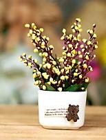 preiswerte -Künstliche Blumen 1 Ast Rustikal Pflaumenfarben Tisch-Blumen