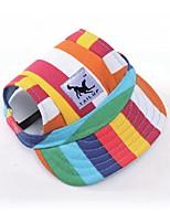 baratos -Cachorros / Gatos / Animais de Estimação Chapéus, Bonés e Bandanas Roupas para Cães Estampa Colorida / Desenho Animado / Slogan Preto /