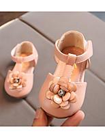 Недорогие -Девочки Обувь Кожа Весна Удобная обувь / Обувь для малышей На плокой подошве для Белый / Красный / Розовый