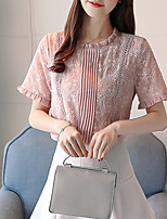 Недорогие -Жен. Кружева Вышивка Блуза Классический Однотонный