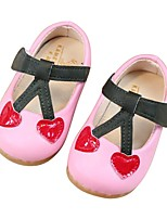 cheap -Girls' Shoes Synthetic Fall First Walkers Sandals Magic Tape for Baby Outdoor Beige / Pink