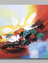 abordables -Pintura al óleo pintada a colgar Pintada a mano - Abstracto Contemporáneo / Modern Lona