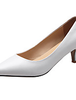 cheap -Women's Shoes Cowhide Spring & Summer Comfort Heels Low Heel Closed Toe White / Black / Almond / Party & Evening