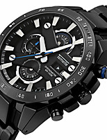 cheap -Men's Quartz Sport Watch Calendar / date / day Stopwatch Stainless Steel Band Luxury Cool Black Silver